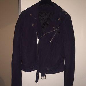 BLK DNM suede biker jacket